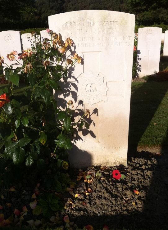 George's grave in Dozinghem Cemetery