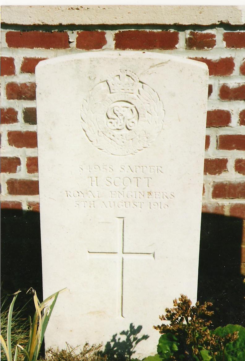 Henry's grave in Dantzig Alley Cemetery
