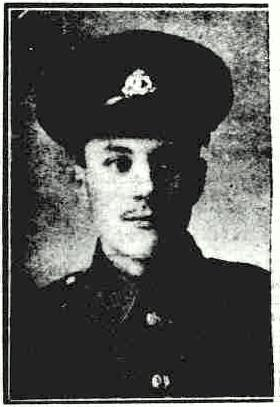 Private Walter Halls ~ Bury Free Press, 12 Aug 1916